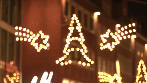 Christmas lights in Bremen Stock Video Footage
