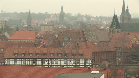 Townscape of Quedlinburg Stock Video Footage