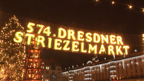 Christmas market in Dresden Stock Video Footage