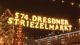 Christmas market in Dresden Footage