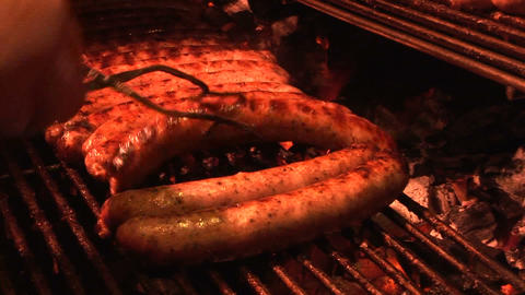 Sausage stall Stock Video Footage