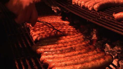 Sausage stall Stock Video Footage