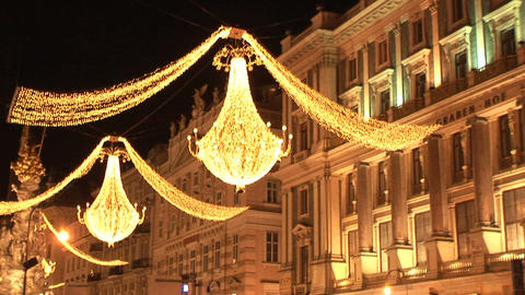 Christmas lights in Vienna Stock Video Footage