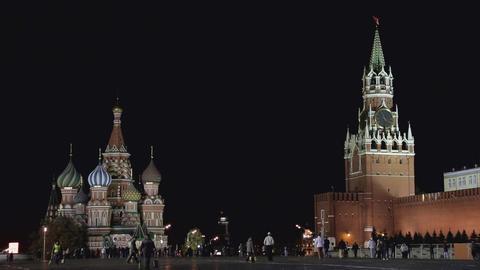 night Kremlin sequence Stock Video Footage