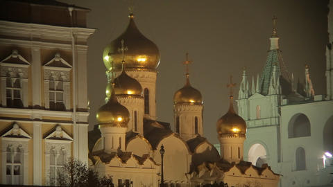 night Kremlin sequence Stock Video Footage