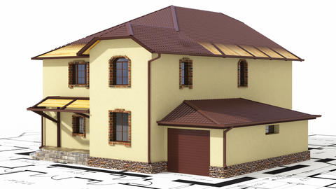 Сonstruction of residential house Stock Video Footage