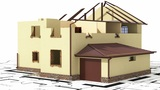 Сonstruction of residential house Animation