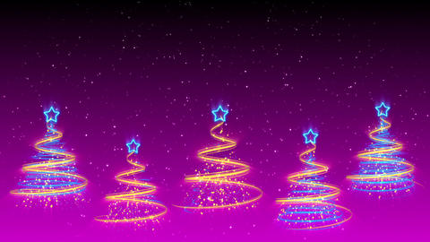 Christmas Trees Background - Merry Christmas 42 (HD) Stock Video Footage