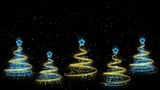 Christmas Trees Background - Merry Christmas 44 (HD) Animation