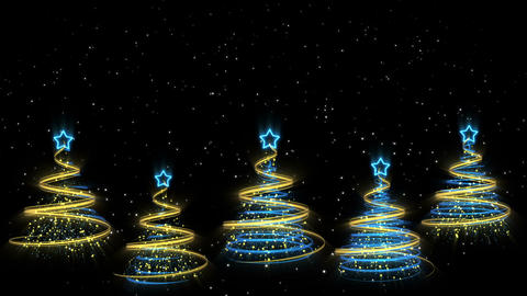 Christmas Trees Background - Merry Christmas 44 (HD) Stock Video Footage