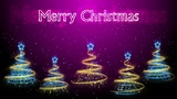 Christmas Trees Background - Merry Christmas 46 (HD) Animation