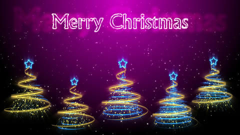 Christmas Trees Background - Merry Christmas 46 (HD) Stock Video Footage