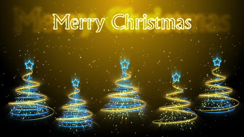 Christmas Trees Background - Merry Christmas 48 (HD) Stock Video Footage