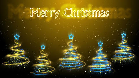 Christmas Trees Background - Merry Christmas 48 (HD) Animation