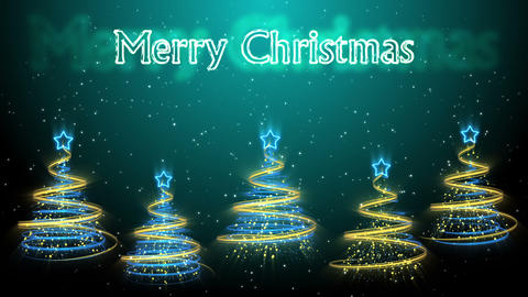 Christmas Trees Background - Merry Christmas 50 (HD) Stock Video Footage