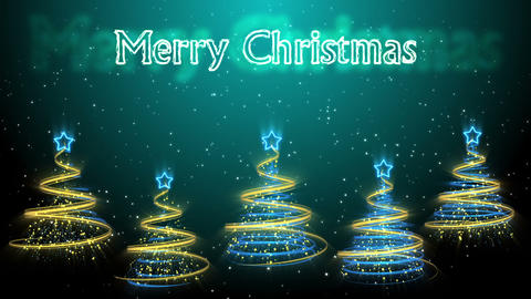 Christmas Trees Background - Merry Christmas 50 (HD) Animation