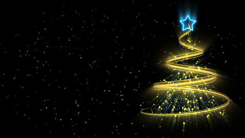 Christmas Tree Background - Merry Christmas 52 (HD) Stock Video Footage