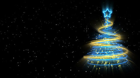 Christmas Tree Background - Merry Christmas 52 (HD) Animation