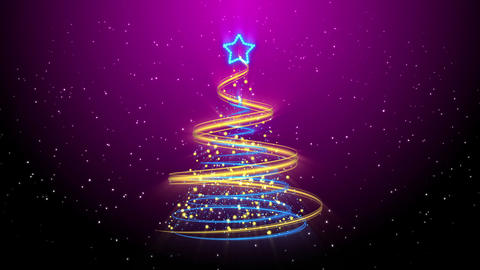 Christmas Tree Background - Merry Christmas 56 (HD) Stock Video Footage