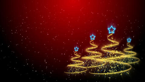 Christmas Trees Background - Merry Christmas 58 (HD) Stock Video Footage