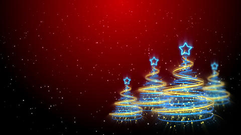 Christmas Trees Background - Merry Christmas 58 (HD) Animation