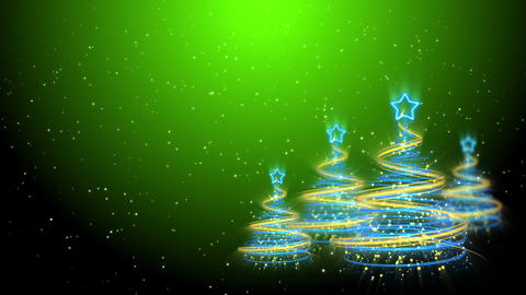 Christmas Trees Background - Merry Christmas 60 (HD) Stock Video Footage