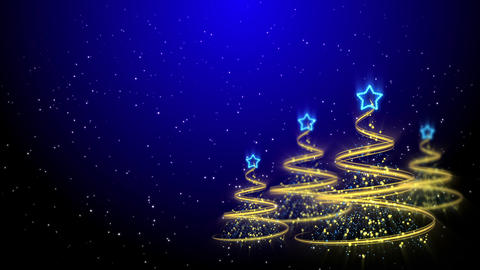 Christmas Trees Background - Merry Christmas 62 (HD) Stock Video Footage
