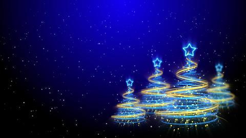 Christmas Trees Background - Merry Christmas 62 (HD) Animation