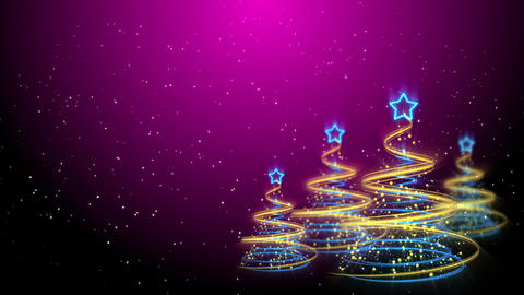 Christmas Trees Background - Merry Christmas 64 (HD) Stock Video Footage