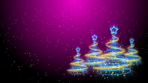 Christmas Trees Background - Merry Christmas 64 (HD) Animation
