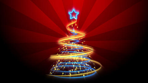 Christmas Tree Background - Merry Christmas 66 (HD) Stock Video Footage