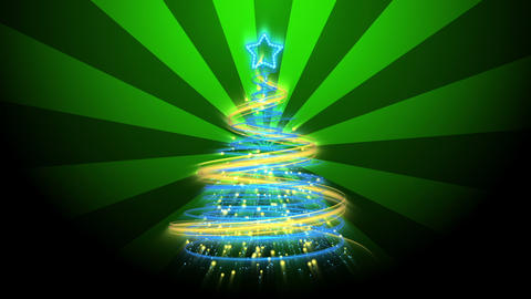 Christmas Tree Background - Merry Christmas 68 (HD) Stock Video Footage
