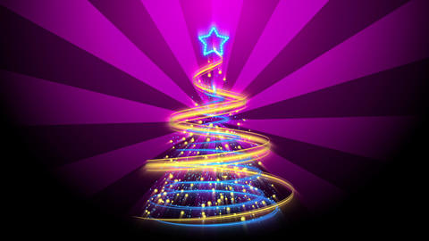 Christmas Tree Background - Merry Christmas 70 (HD) Stock Video Footage