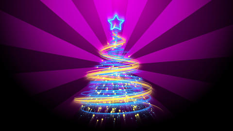 Christmas Tree Background - Merry Christmas 70 (HD) Animation