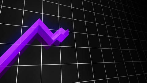 3D Growing Line Graph (Loopable) Stock Video Footage