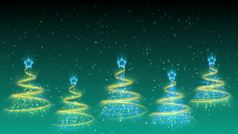 Christmas Trees Background - Merry Christmas 38 (HD) Stock Video Footage
