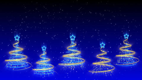 Christmas Trees Background - Merry Christmas 40 (HD) Stock Video Footage