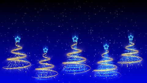 Christmas Trees Background - Merry Christmas 40 (HD) Animation