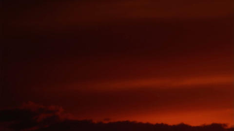 Red Sky Stock Video Footage