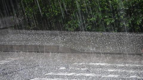 Rain ice on a paved road 54 Footage