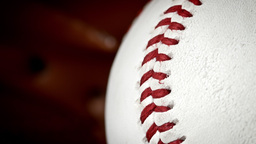 Baseball glove and ball background concept HD stock footage Footage
