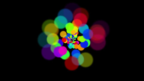 4k Abstract Circles,bubbles Blister Background,dots Fireworks Particles Tunnels stock footage