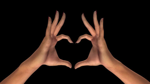 Woman Hands - Heart Sign Animation