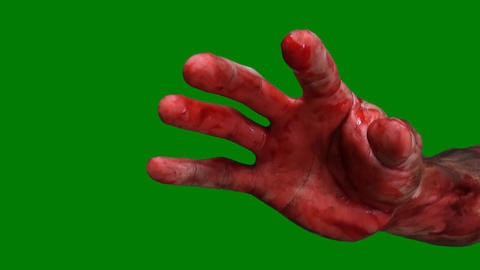 Green screen arm bloody and dirty front Live Action
