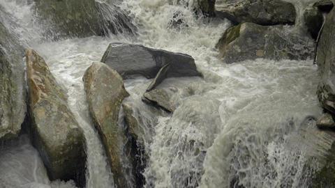 Creek Rocks Italian Alps Slow Motion Footage