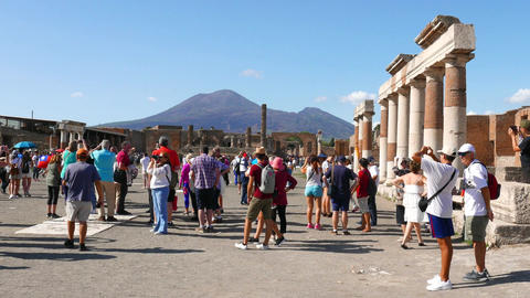 Pompeii Ruins at Naples Footage