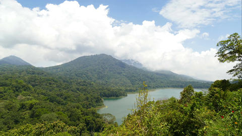 Clouds above Twin Lakes Buyan and Tamblingan, time lapse Footage
