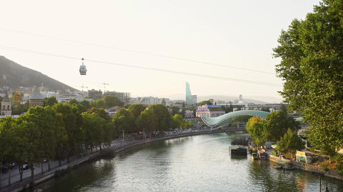 Panorama View of Tbilisi, Georgia Footage