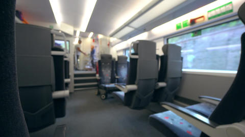 Train Carriage Interior Footage