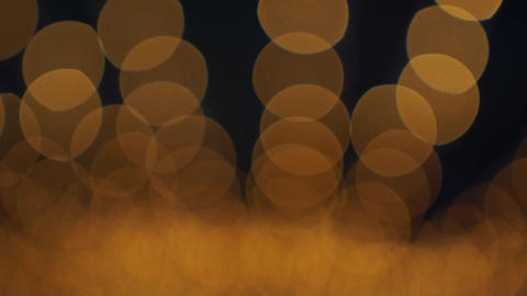 Golden Bokeh Lights Blinking Background Footage